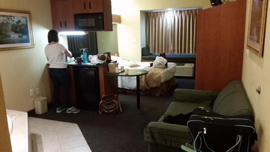 Microtel Inn & Suites by Wyndham Ocala: View from entryway - Check out the window bench
