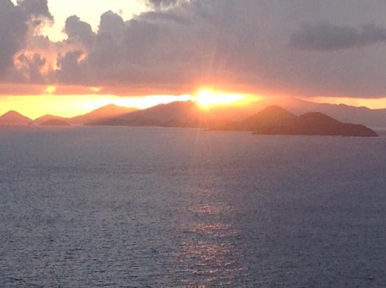 Villa Papillon: Sunrise over St. John