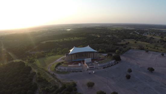 The Promise in Glen Rose : Drone View of Texas Amphitheatre