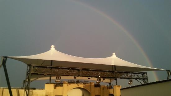 Glen Rose, TX: Rainbow over the theater