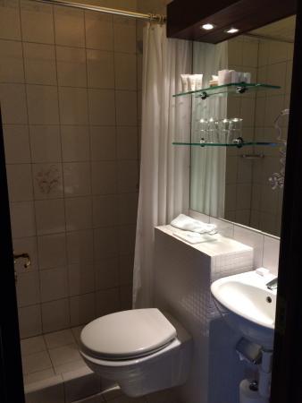 Hotel Holt Small Modern Bathroom Bathrobes And Nice Toiletries Included