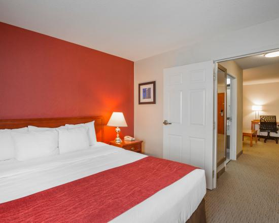 Comfort Inn & Suites South: King Suite Bedroom