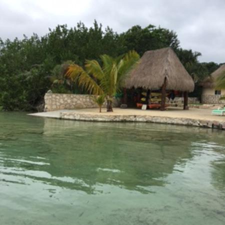 Bacalar Lagoon Resort: View from cabana