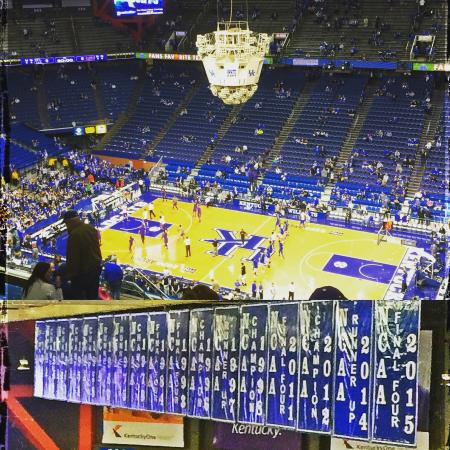 good view of the banners and the floor picture of rupp arena rh tripadvisor co za
