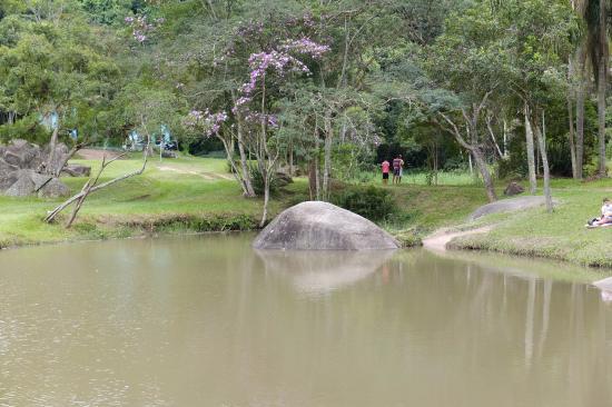 Maua, SP: pedra no lago