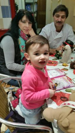 Scalini's: Little Rosie enjoyed her fish and chips! Oh yeah! !!