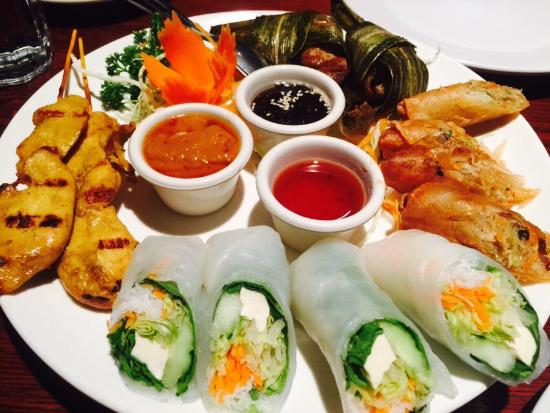 Charmant Siam Lotus Asian Kitchen U0026 Bar: Sampler Appetizer Plate