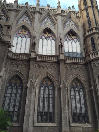 St. Philomena's Church: Side view with amazing gothic windows