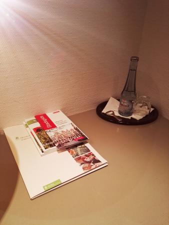 Flair Hotel Goldener Stern: some local information and bottled water