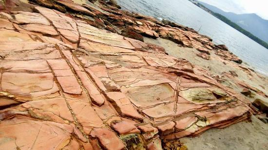 Pantai Merdeka: natural exotic stones here were one of my favorite spots =)