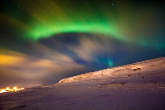 Finnmark, Noruega: Northern lights on ekkerøy