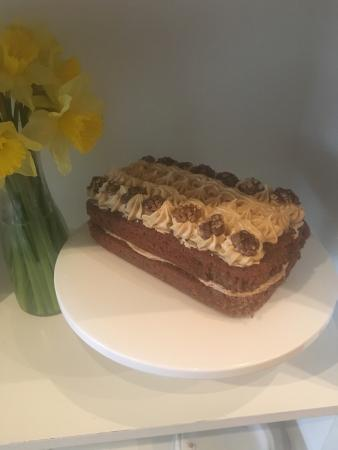 Take A Break Cafe: Beautiful homemade coffee & walnut loaf made by Jane. ☕️🍰