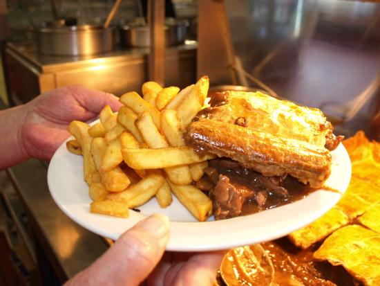 Homemade Steak Pie and Chips. Served most days. - Picture ...