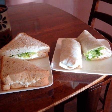 Moosomin, Canadá: egg salad and turkey wrap