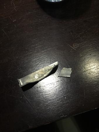 Fuana Inn: my baggage's broken piece which we found right in front of the hotel