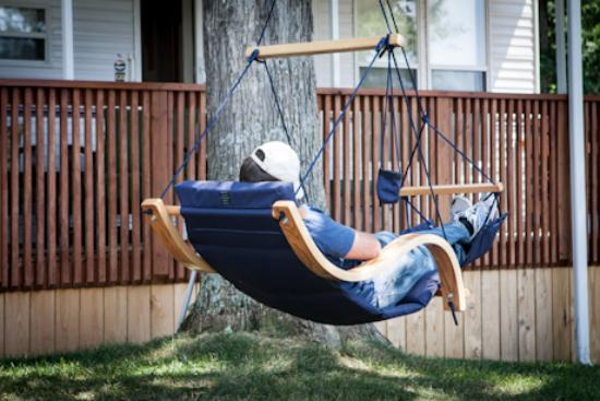 Double G RV Park: Relaxing In His Air Chair