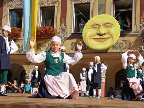Beieren, Duitsland: Kinderfest Memmingen