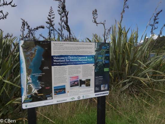 Okarito, New Zealand: Some info about lagoon