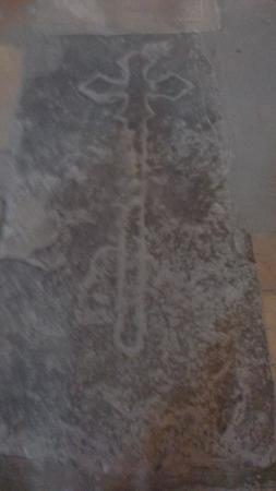 Saint-Hilaire, Frankrike: Ossuary or Tombstone inside the church