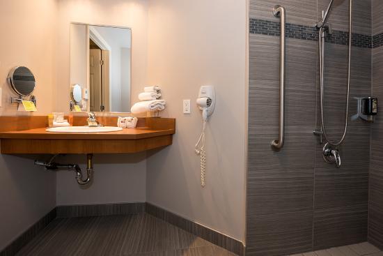 Hotel l'Empress: Salle de bain adaptée