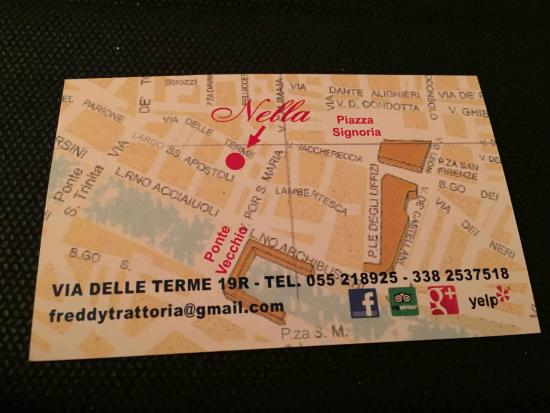 Back side of business card with the location and contact details trattoria nella back side of business card with the location and contact details colourmoves