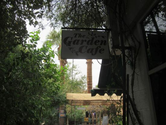 The Garden Cafe: sign