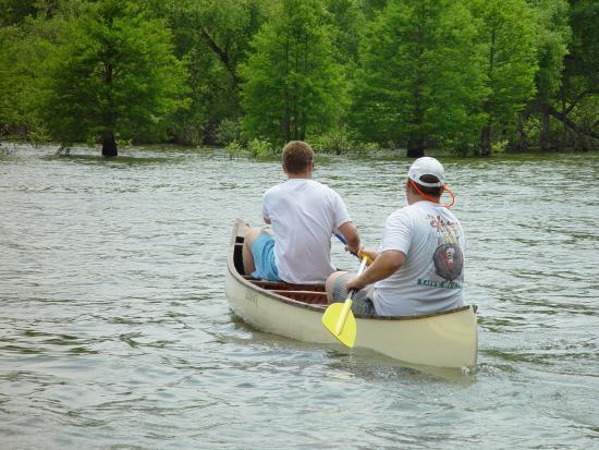canoeing on Kentucky Lake