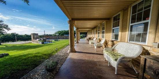 front porch with fireplace sand volleyball basketball court in rh tripadvisor com
