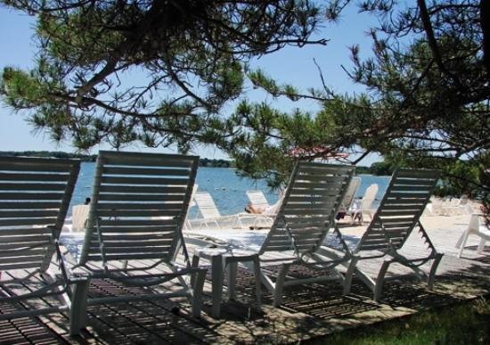 beach chairs at the silver sands picture of silver sands motel rh tripadvisor com