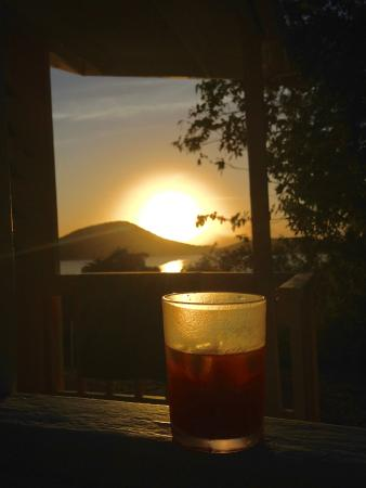 Tamarindo Estates Beach Apartments: sunset on the porch