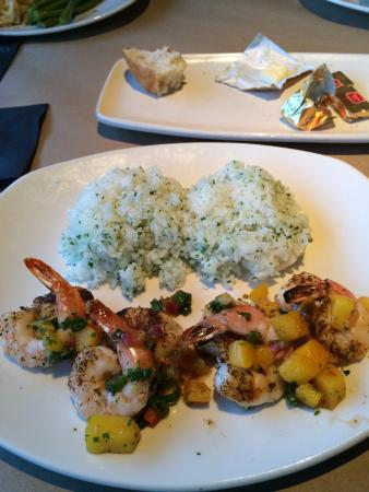 Bonefish Grill - Richland: Shrimp and Sea Scallops with Mango and rice