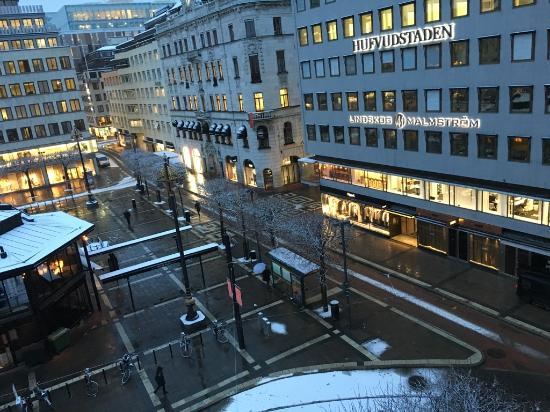 view of the square from nobis hotel stockholm