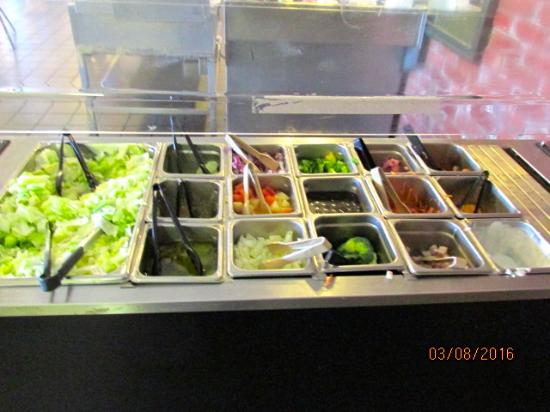 Wadesboro, Carolina do Norte: Salad bar