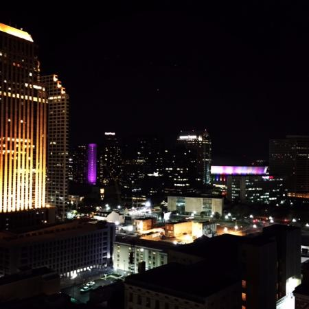 View from rooftop pool area.