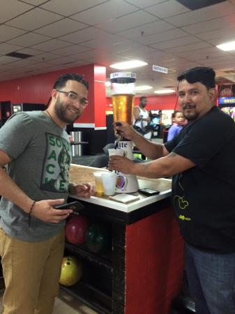 AMF Bowling Center: my Nephew and I