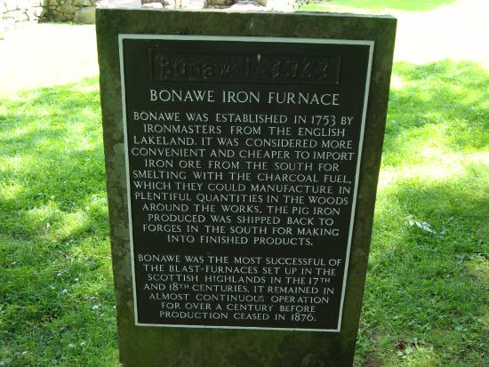Taynuilt, UK: Plaque detailing the history