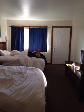 Mount Princeton Hot Springs Resort: This is your basic cheap roadside motel room advertised as premium spa resort and charged premiu