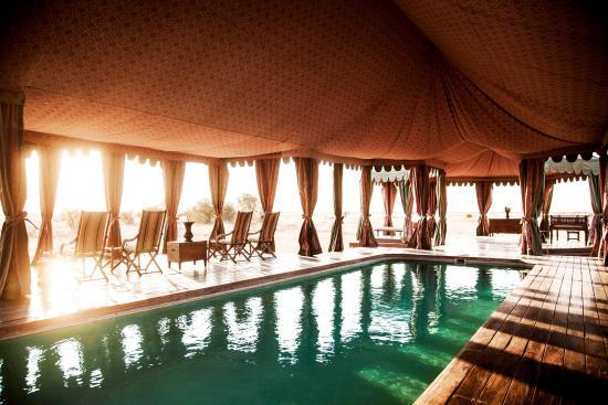 Jack's Camp: The pool pavillion