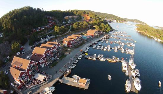 Tregde, Noruega: flyfoto