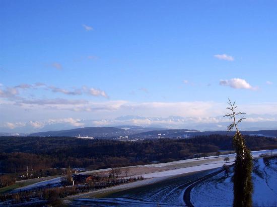 Ausblick von Regensberg im Winter