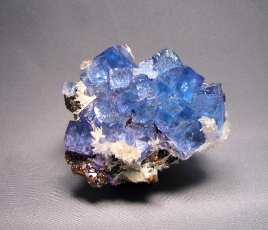 Marion, KY: fluorite with calcite
