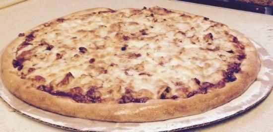 Interlochen, MI: BBQ chicken pizza.