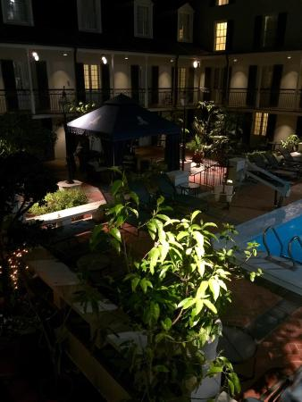 on the terrace in the courtyard with pool in background picture of rh tripadvisor ie