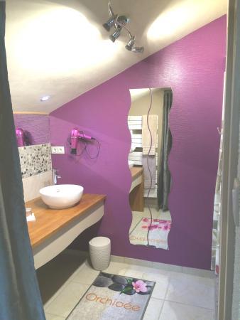 Plazac, Франция: La salle de bains de la Fleur d'Orchidée