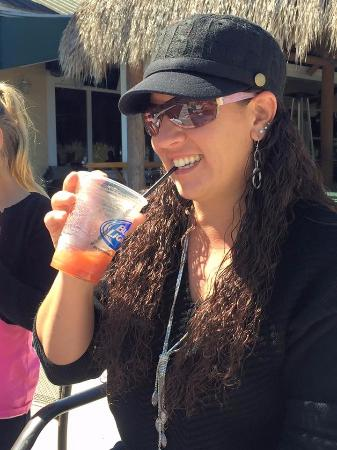 Evie's Family Golf Center: Enjoying my drink