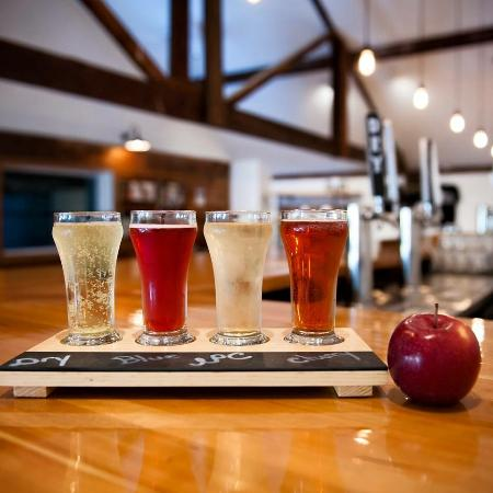 Highland, Nova York: Tap room tasting paddle