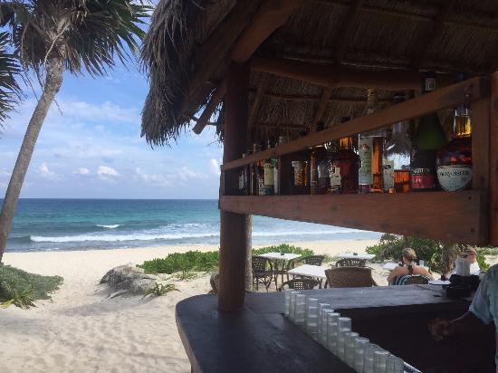 Playa del Secreto, Mexiko: Beach bar