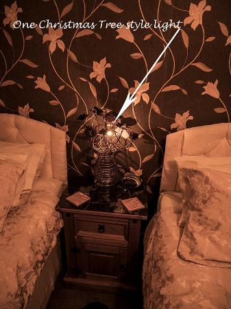 Marston Green, UK: The bedside lamp light