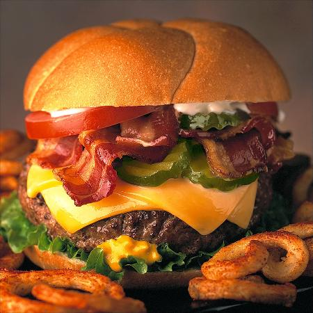 Marathon, NY: Bacon Cheese Burger