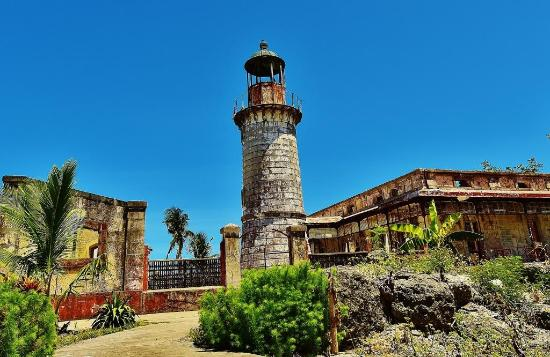 Masbate Island, Fülöp-szigetek: The lighthoue at Punta Bugui, Aroro,y built during the Spanish era